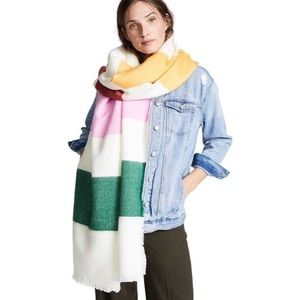 Made well color-blocked rainbow blanket scarf